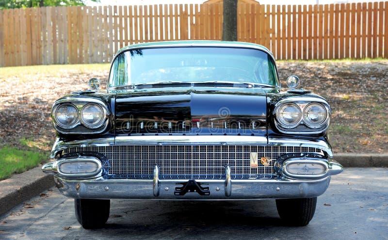 Vue de face de Pontiac 1958 Bonneville images stock