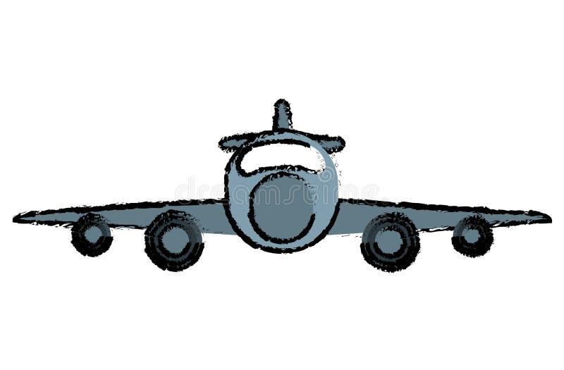 Vue de face de transport privé d'avion de dessin illustration stock