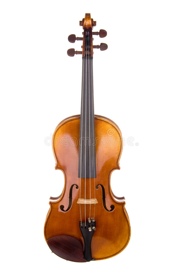 Vue de face de violon photo stock