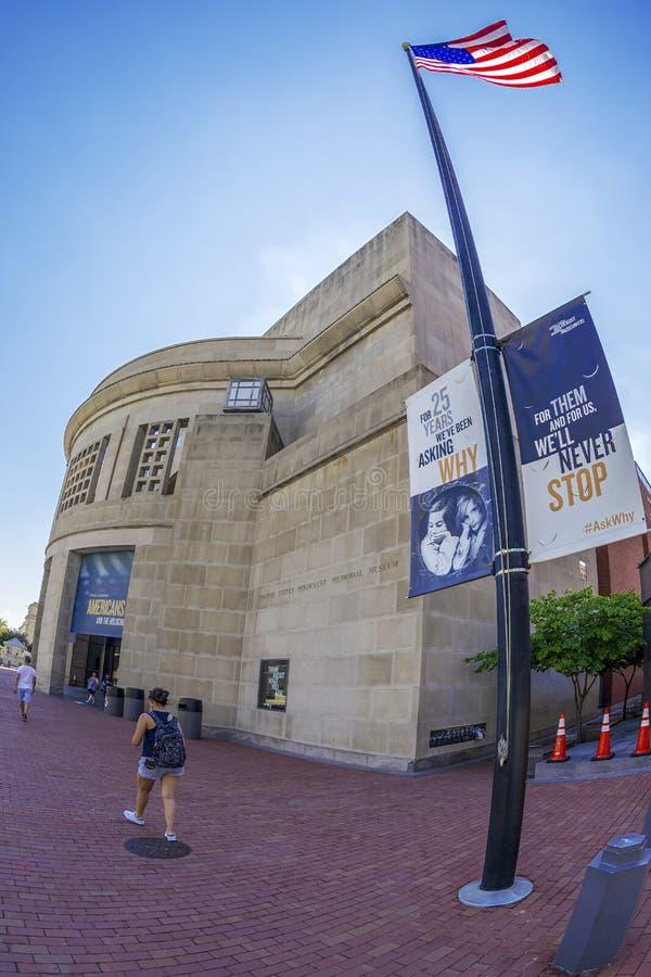 Vue de face du musée commémoratif d'holocauste des Etats-Unis, Washi photos libres de droits