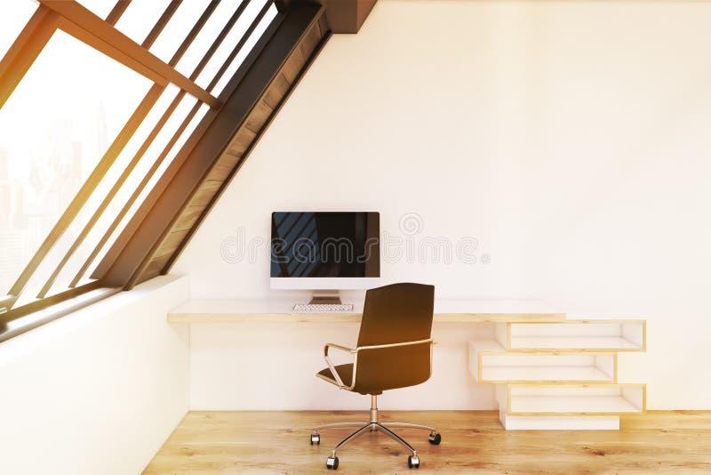 Vue de face du siège social dans le grenier, modifiée la tonalité illustration stock