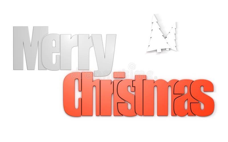 Vue de face de Joyeux Noël illustration libre de droits