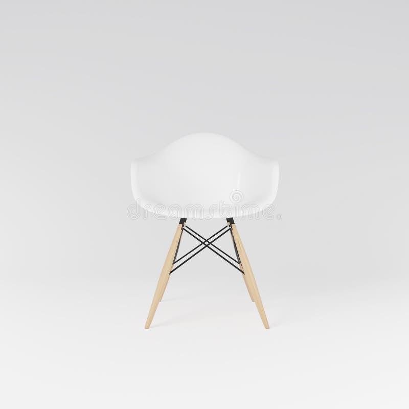 Vue de face de la chaise dinning blanche photo libre de droits