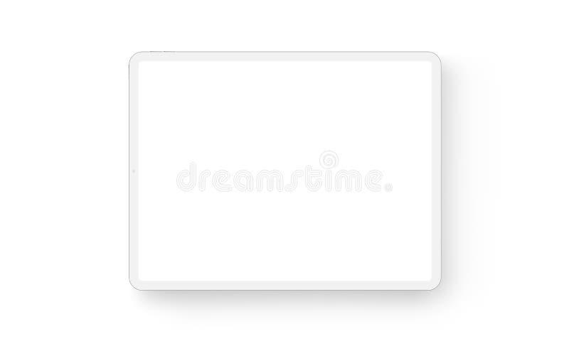 Vue de face de maquette horizontale de tablette d'argile illustration stock