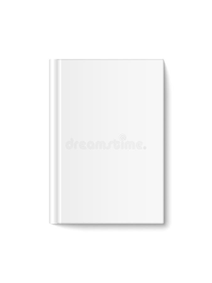 Vue de face réaliste de couverture de livre du vecteur 3d, maquette fermée verticale, d'isolement sur le fond blanc Les livres co illustration de vecteur