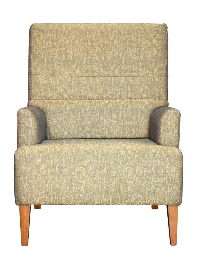 Vue de face de sofa d'isolement sur le blanc photographie stock