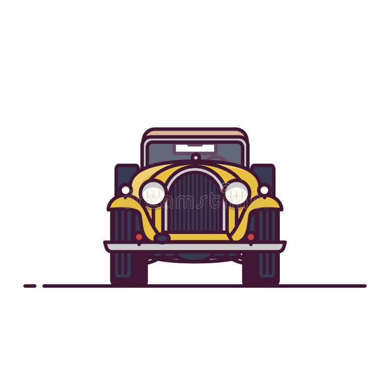 Vue de face de voiture classique illustration de vecteur