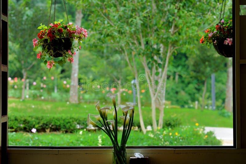 Vue de fenêtre photographie stock