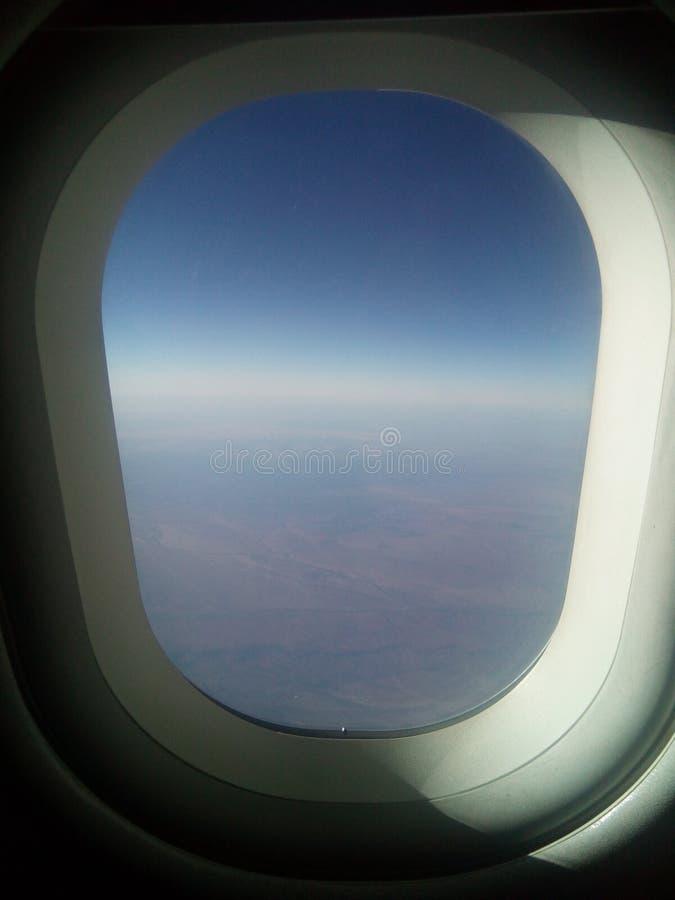 Vue de fenêtre de Seat d'avion photographie stock libre de droits