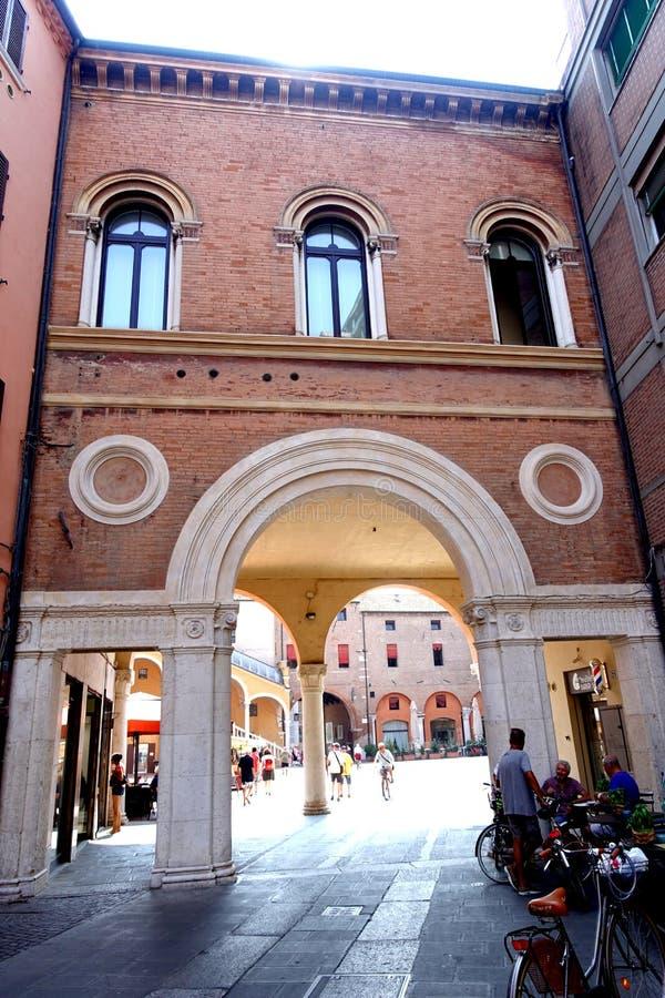 Vue de Ferrare de la cour du palais ducal photo libre de droits