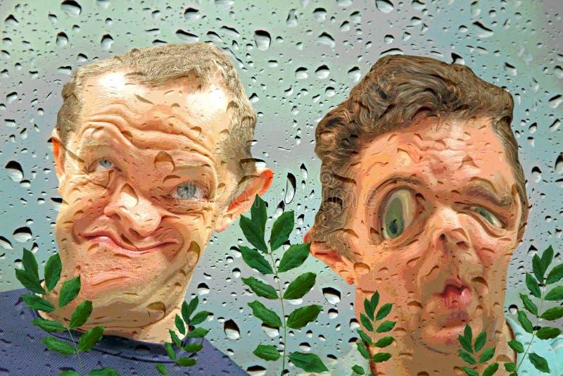 Vue de fisheye d'aquarium images stock