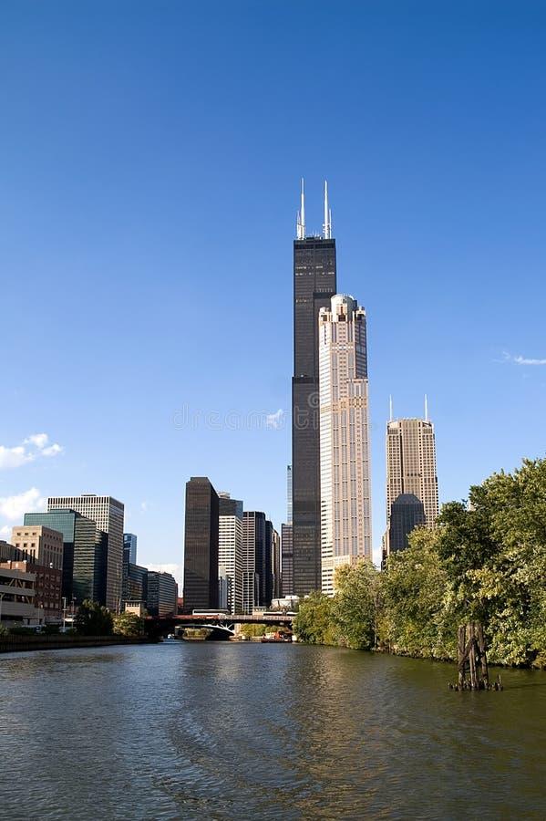 Vue de fleuve de Chicago photos libres de droits