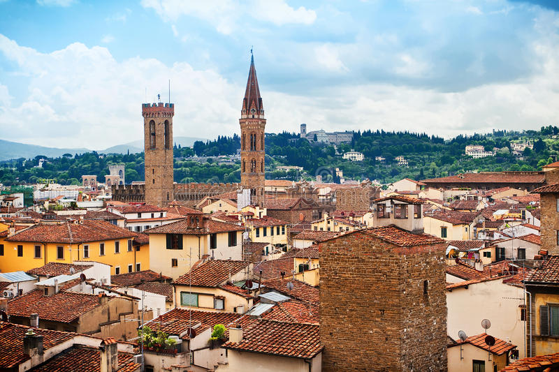 Vue de Florence photo stock