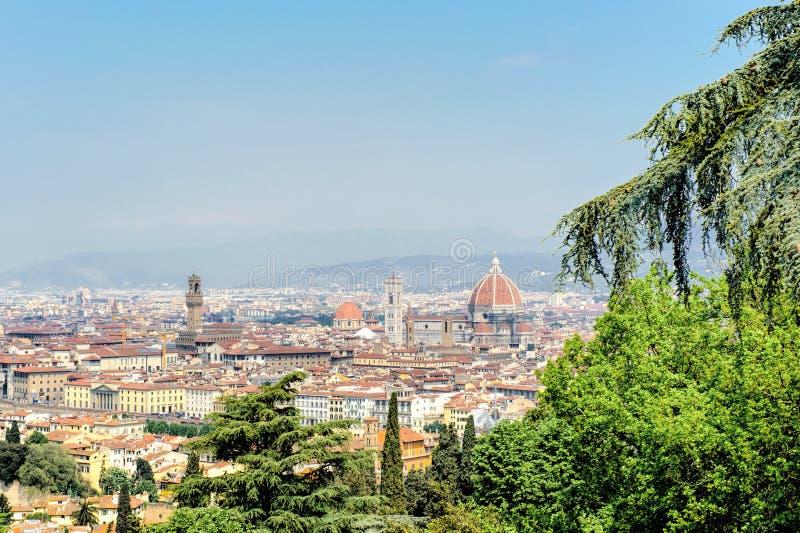 Vue de Florence avec la cathédrale photos stock