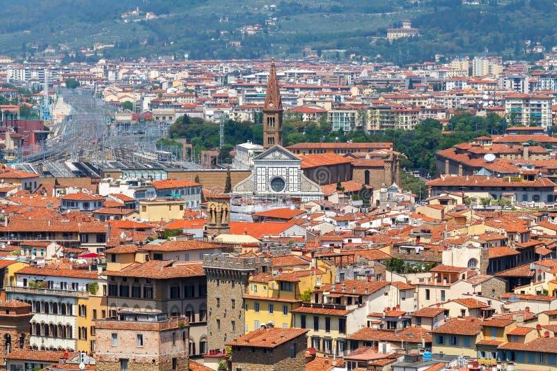 Vue de Florence de belvédère de fort photographie stock libre de droits