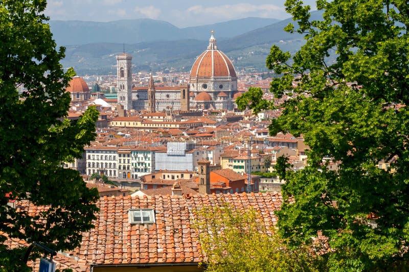 Vue de Florence de belvédère de fort photographie stock