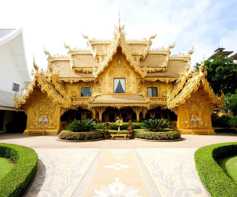 Vue de fonte de Wat Rong Khun chez Chiang Rai photo libre de droits