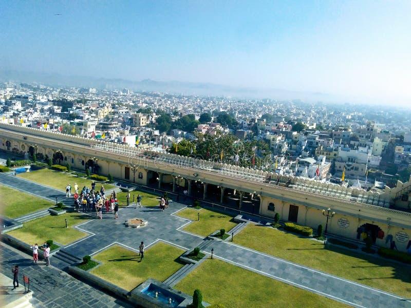 Vue de fort d'Udaipur, Ràjasthàn, Inde photographie stock libre de droits
