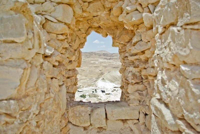 Vue de forteresse de Masada photos stock