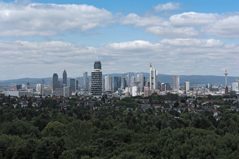 Vue de Francfort du centre de la tour de Goethe photo libre de droits