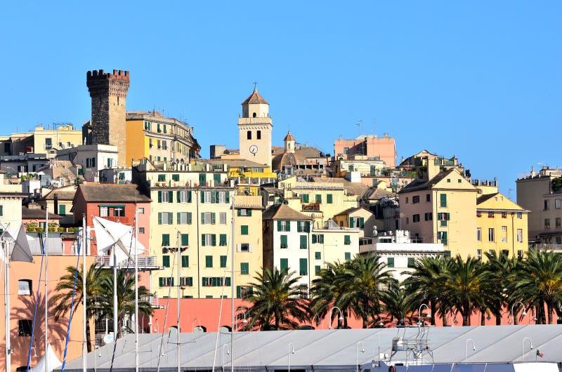 Vue de Gênes photographie stock libre de droits