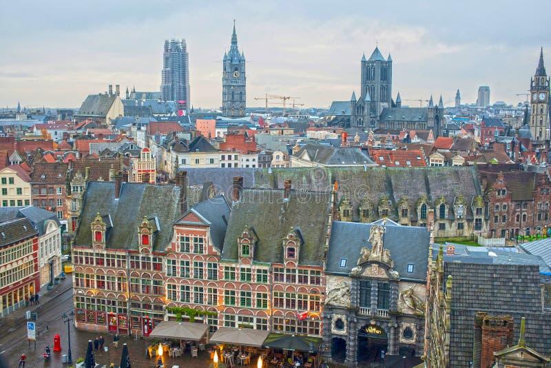 Vue de Gand en Belgique photo libre de droits
