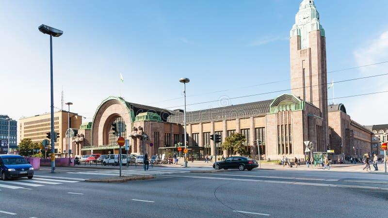 Vue de gare ferroviaire centrale à Helsinki images stock