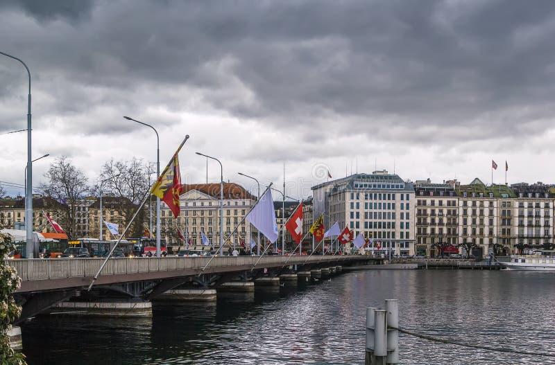 Vue de Genève, Suisse image libre de droits