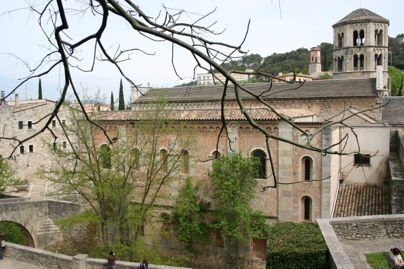 Vue de Girona images libres de droits