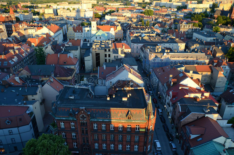 Vue de Gliwice en Pologne photographie stock