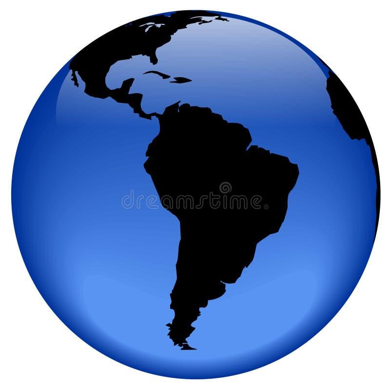 Vue de globe - Amérique du Sud illustration de vecteur