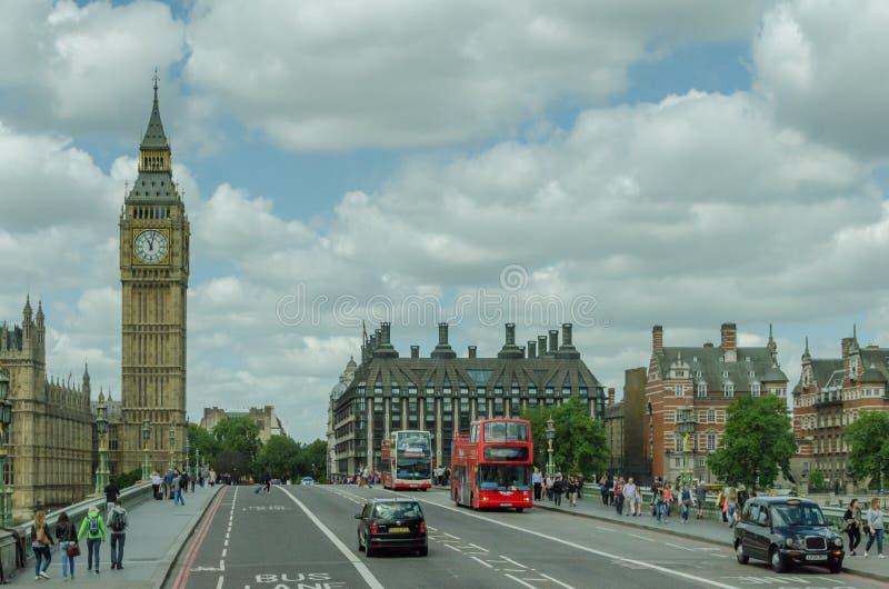 Vue de grand Ben Le Royaume-Uni, Londres image stock