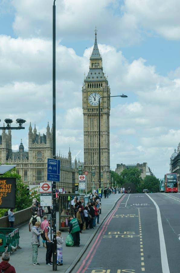 Vue de grand Ben Le Royaume-Uni, Londres photographie stock libre de droits