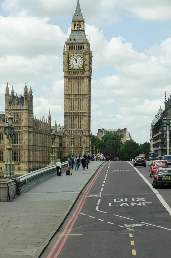 Vue de grand Ben Le Royaume-Uni, Londres images libres de droits