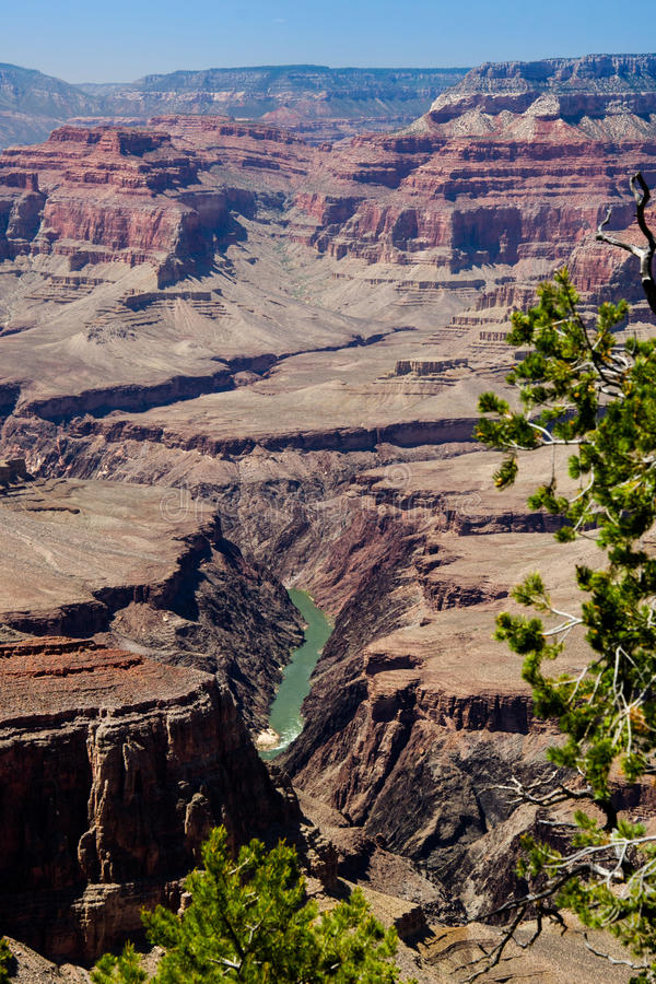 Vue de Grand Canyon le fleuve Colorado, point de Pima photo libre de droits