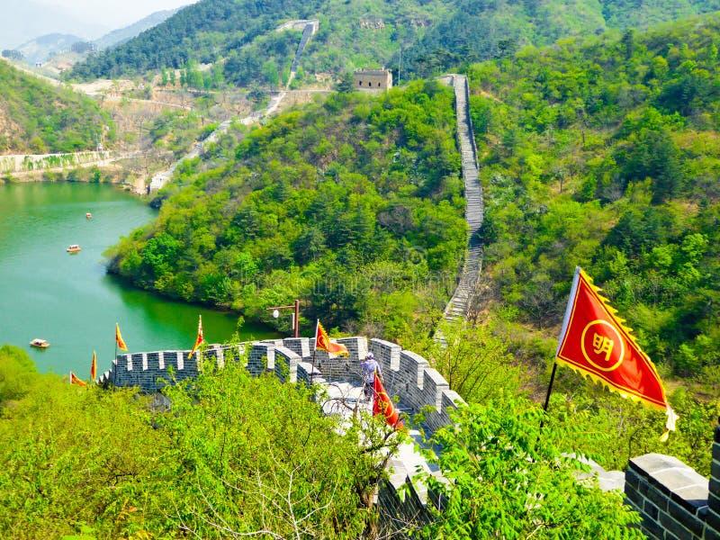 Vue de Grande Muraille de Huanghuacheng image libre de droits