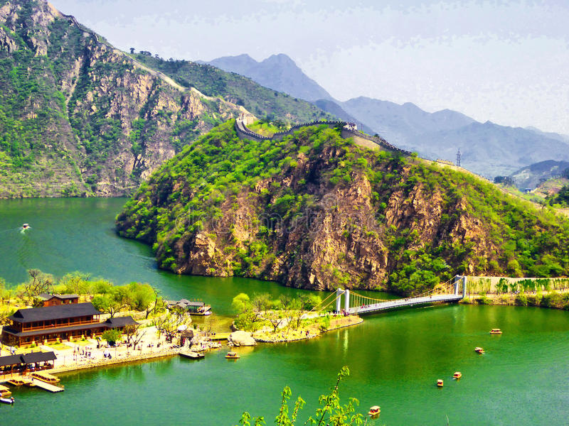 Vue de Grande Muraille de Huanghuacheng images stock
