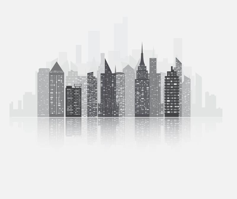 Vue de gratte-ciel de ville illustration libre de droits