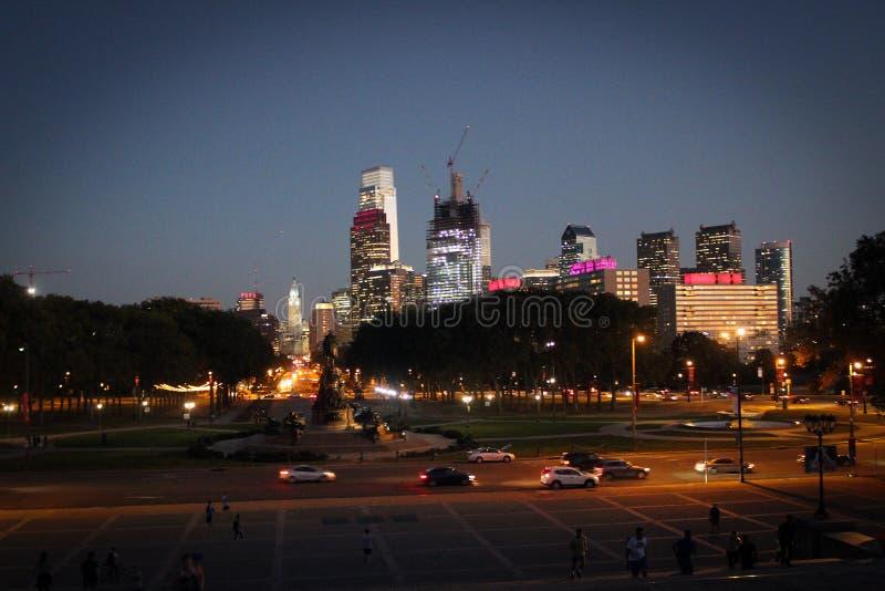 Vue de gratte-ciel de Philadelphie dedans en centre ville, la Pennsylvanie, Etats-Unis images libres de droits