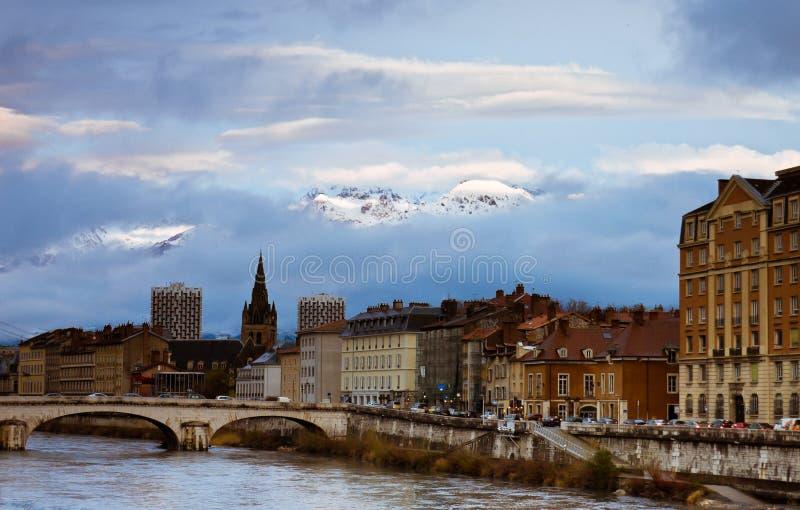 Vue de Grenoble photos libres de droits