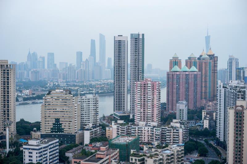Vue de Guangzhou CBD image libre de droits