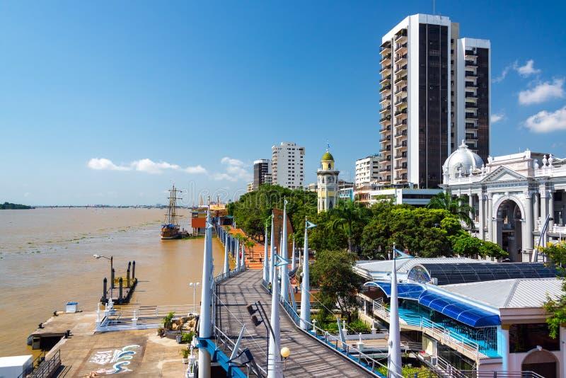 Vue de Guayaquil Malecon photo libre de droits