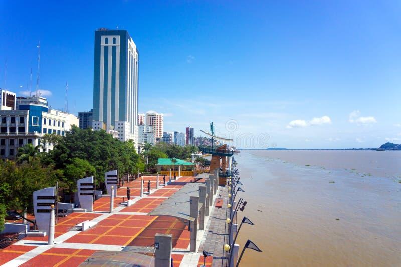 Vue de Guayaquil Malecon photographie stock