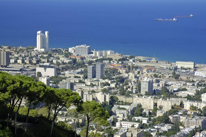 Vue de Haïfa photographie stock libre de droits