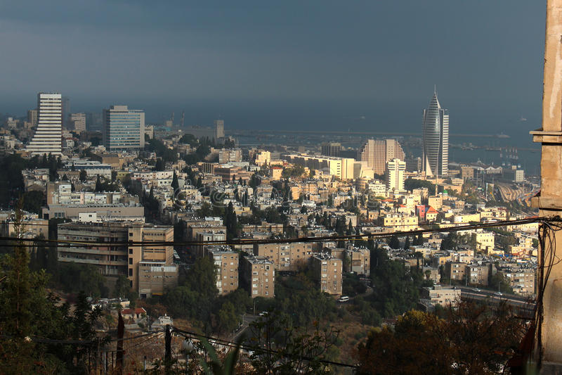 Vue de Haïfa du centre, Israël photo libre de droits