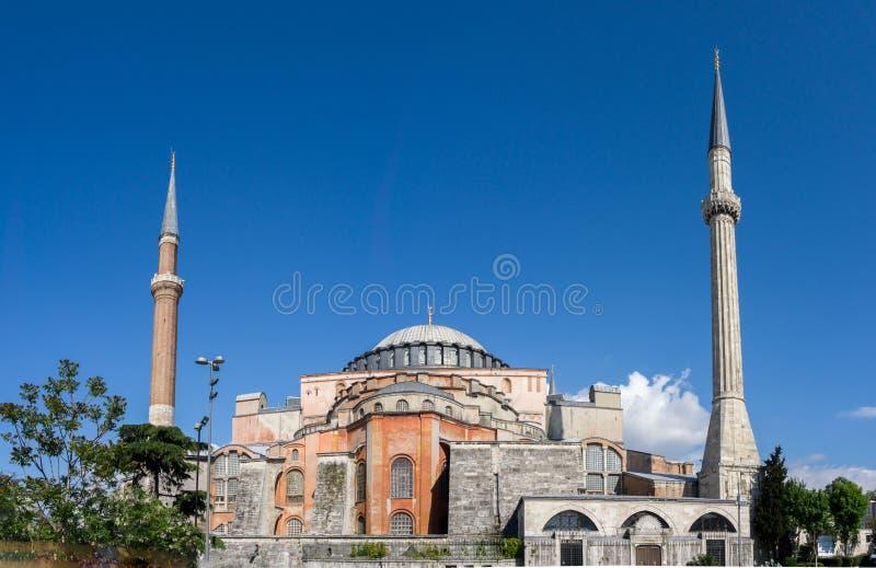 Vue de Hagia Sophia, basilique patriarcale chrétienne, mosquée impériale et maintenant un musée Istanbul, Turquie photos libres de droits