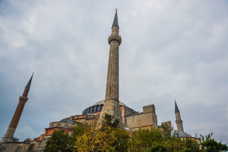 Vue de Hagia Sophia, basilique patriarcale chrétienne, mosquée impériale et maintenant un musée Istanbul, Turquie photo libre de droits