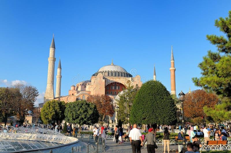 Vue de Hagia Sophia, Istanbul, Turquie photo stock