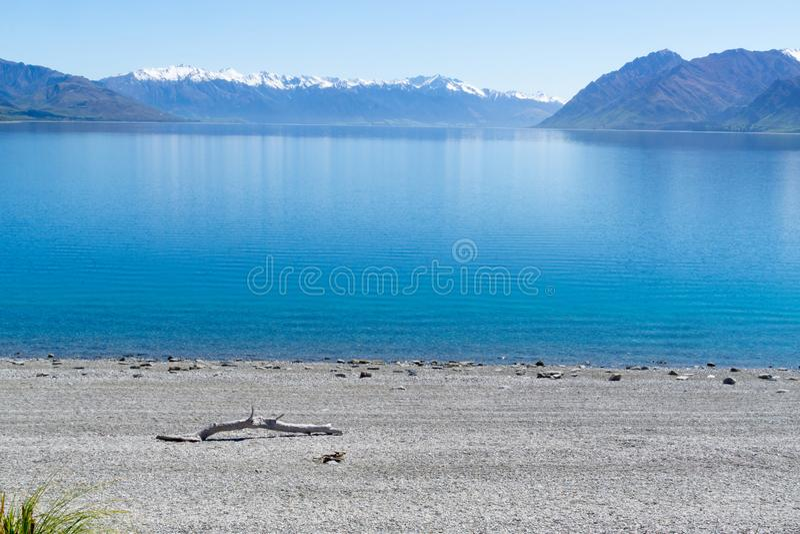 Vue de Hawea de lac images stock