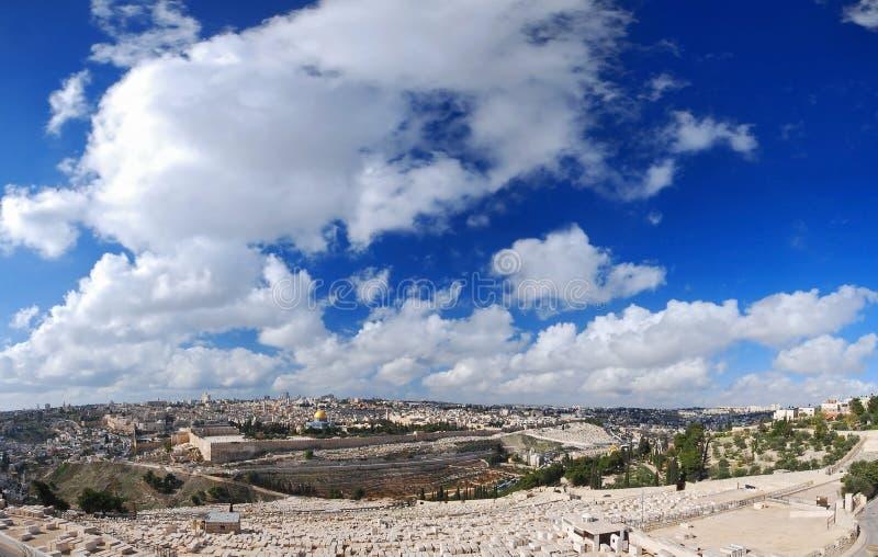 Vue de Jérusalem photos libres de droits